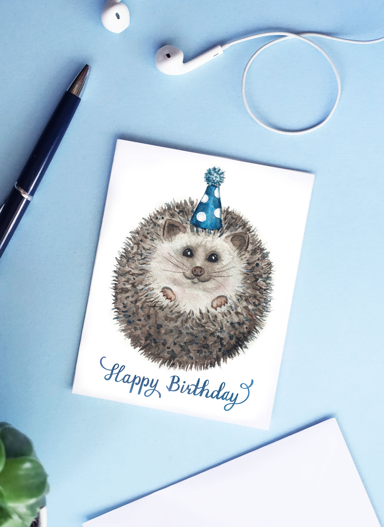 Hedgehog Birthday Card